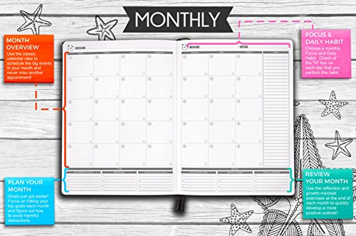 Panda Planner Color Coloring Book Weekly Planner For