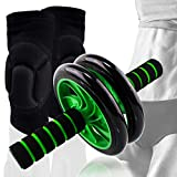Beast Pump Ab Roller Wheel Core Abdominal Trainer + Knee Pads Protector For Sale