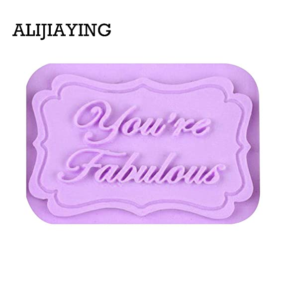 Amazon.com: 1 Pcs YouRe Fabulous Letter Form Fondant 3D Silicone Mold, Sugar Craft Tools, Cake Decorating Chocolate Mould: Kitchen & Dining