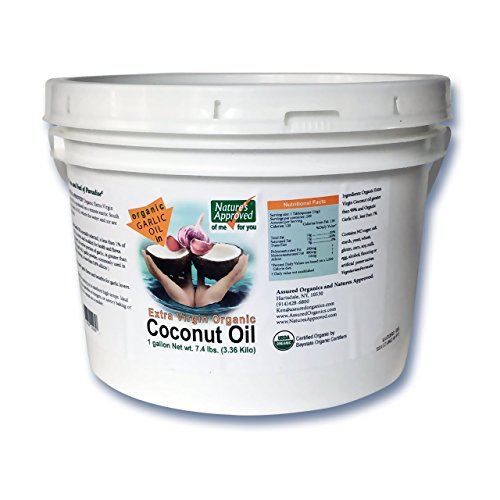Price comparison product image Organic Garlic Coconut Oil (1 gallon) The best and healthiest way to serve or use garlic flavor