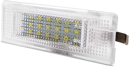 LncBoc LED Luz de la matrícula para coche Lámpara equipaje ...