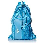 Speedo Unisex-Adult Deluxe Ventilator Mesh Equipment Bag Blue Grotto, One Size