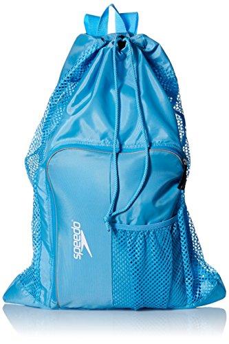 Speedo Deluxe Ventilator Mesh Equipment Bag, Blue Grotto, 1SZ