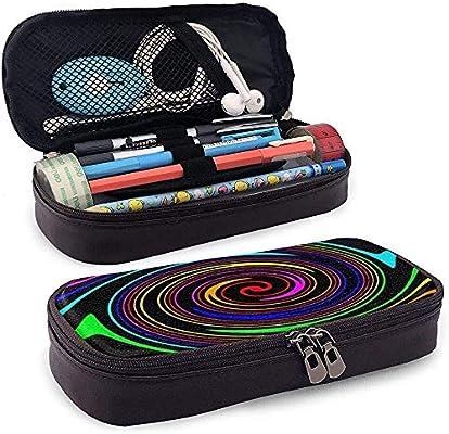 Estuche de lápices Un estuche de lápices de cuero Vortex colorido Estuche de lápices con cremallera Estuche de lápices, Estuche de papelería: Amazon.es: Oficina y papelería