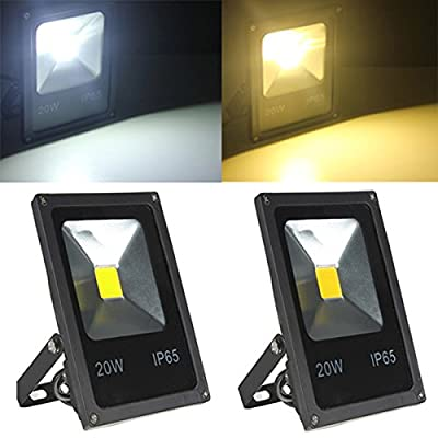 20W White/Warm White LED Flood Light Wash Garden Lamp AC85-265V (Color Warm White)