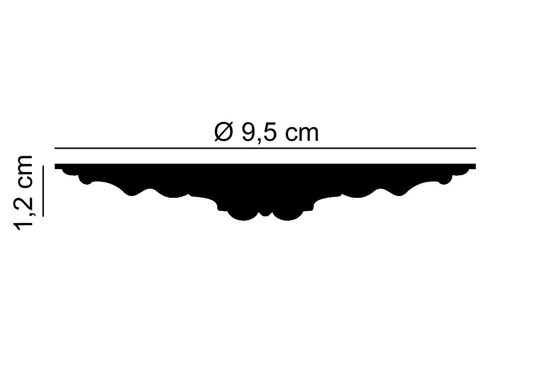 mardom Decor Decken Rosette I b3110/I moderne Sachex Rosace de plafond en stuc Rosace murale d/écorative /él/éments I /Ø 9,5/cm x 1,2/cm