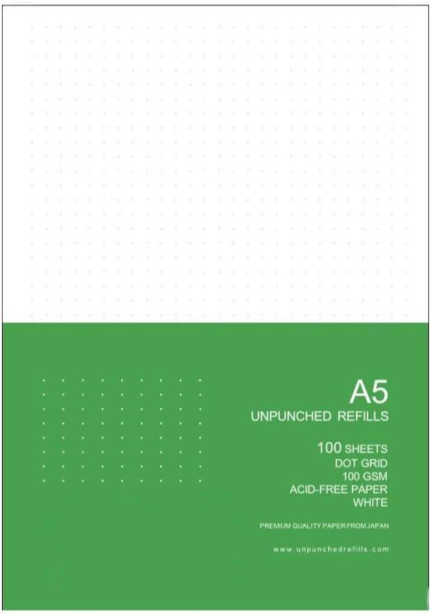 cintas marcadoras banda el/ástica 192 p/áginas Dotted Journal Notebook cubierta de cuero sint/ético negro 8 x 14,6 cm cuaderno A5 con tapa dura punteada con papel grueso de 100 g//m/²