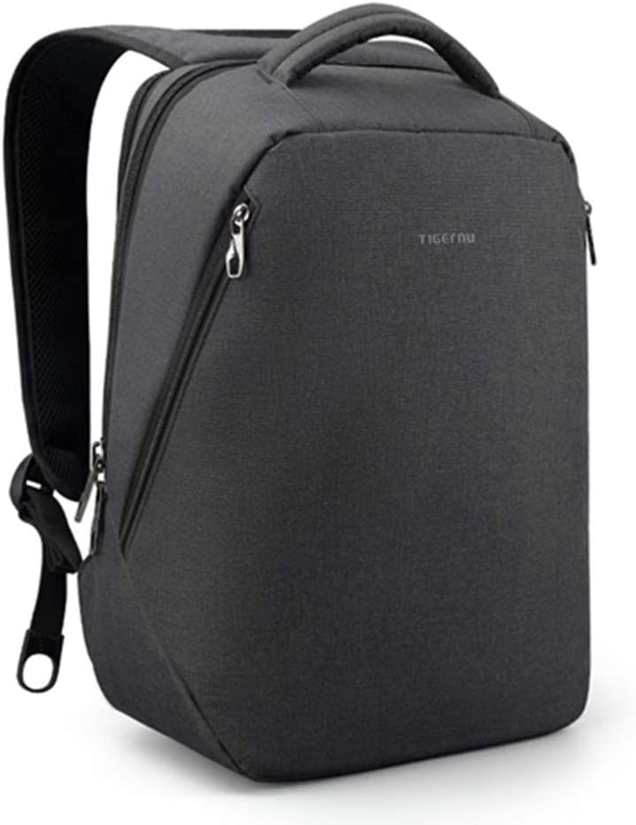 Anti Theft Laptop Backpack Business Travel Backpack for Men College Water Resistant Lightweight fit 15.6 17 Inch Grey Black