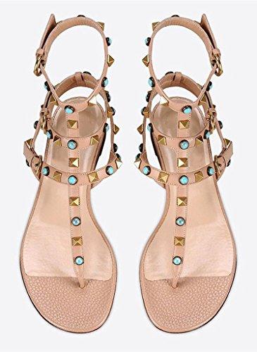 Amy Q - Zapatos de tacón  mujer color carne
