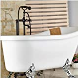 GOWE Luxury Oil Rubbed Bronze Floor Mounted Bathroom Tub Faucet W/ Hand Shower Sprayer Solid Brass Mixer Tap