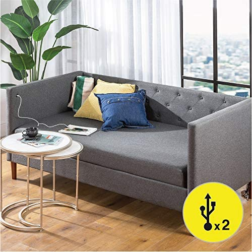 ZINUS Shalini Upholstered Daybed - the best living room sofa for the money