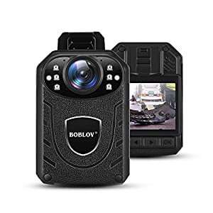 BOBLOV 1296P Body Wearable Camera Support Memory Expand Max 128G Lightweight and Portable Easy to Operate KJ21