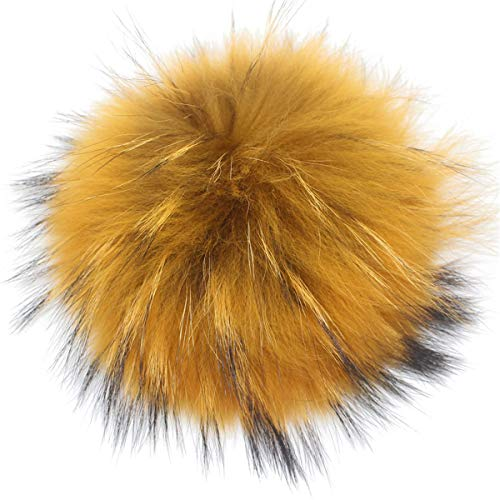 Cozylkx Faux Raccoon Fur Pompoms Big Fur Pom Pom Balls, used for sale  Delivered anywhere in USA