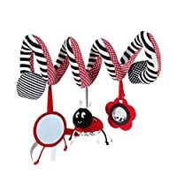 Bed Stroller Hanging Cribs Toy Cute Plush Spiral Soft Toys Hanging Rattle Toy Ladybug