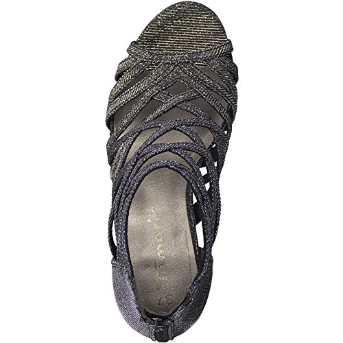 Tamaris 1-1-28014-20 - Romana de Lona Mujer BLACK GLAM