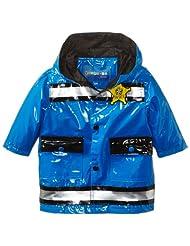 Wippette Baby Boys' Policeman Waterproof Hooded Raincoat Jacket, Royal, 12 Months