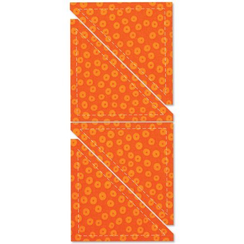 GO! Fabric Cutting Dies-Half Square 4'' Finished Tr 1 pcs SKU# 643981MA