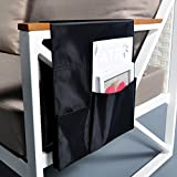 Extended TV Remote Control Organizer Holder, Drapes Over Recliner Chair Armchair Caddy Pocket, Great for Ipad, Remote, Game Controller, Newspapers, Books, Pens, Magazine Holder (36.6''L 12.6''W)