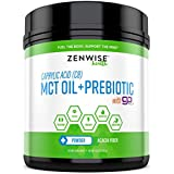 C8 MCT Oil + Prebiotic Powder with goMCT - Caprylic Acid & Acacia Fiber Supplement - Keto Friendly Fat for Energy Boost & Fat Burn Weight Loss - Great for Coffee + Shakes & Smoothies - 15.87 OZ