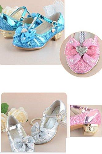 OPSUN Mädchen Sandalen Prinzessin Kinderschuhe Sandalen Sandaletten Kleinkinder Halbschuhe Sandalette Ballerinas Blau