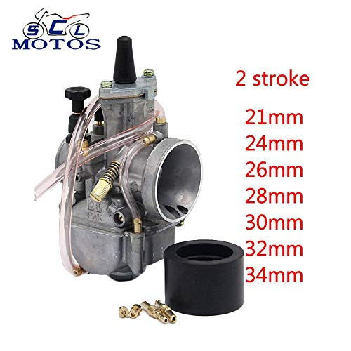 Accessories & Parts Sclmotos -21 22 26 28 30 32 34Mm Pwk Motorcycle Carburetor Carb with Power Jet Fit 2 Stroke Engine Power Scooter ATV Off Road - (Color: 34Mm 2T) -