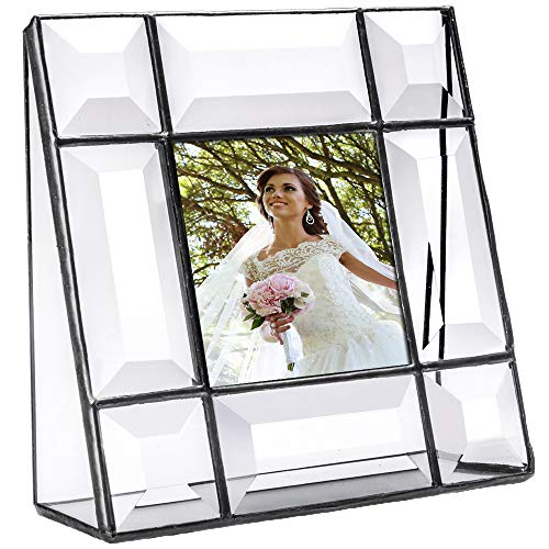 (J Devlin Pic 112-33 Crystal Glass Picture Frame Beveled Glass 3x3 Square Photo)