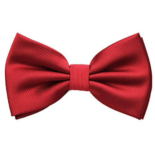 Adjustable Dark Mens Red Tie PenSee Solid Formal tied Bowtie Various Bow Tuxedo Pre Colors RfRdICwq