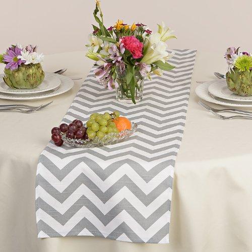 appleberry attic chevron table runner collection grey handmade in usa amazoncom grocery u0026 gourmet food