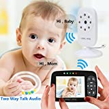 "Home Video Baby Monitors Camera 3.5"" Large LCD Screen Night Vision Two Way Talk Monitoring System"