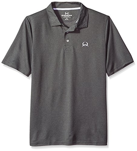 Cinch Horse Tack (Cinch Men's Arenaflex Polo Shirt, Heather Grey, Small)