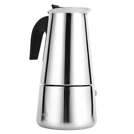 Cafetera para hacer espresso, cafetera italiana reutilizable de café Moka con mango de baquelita Moka Express para la casa, la oficina.(300ml)