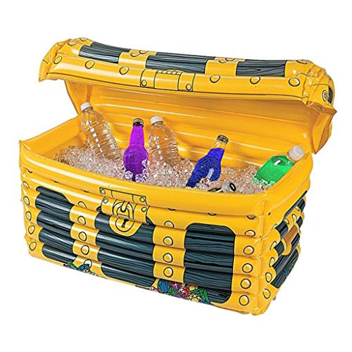 Portable Holiday Party Bar Swimming Pool Supplies PVC Inflatable Treasure Box Ice Bucket Bottle Wine Beer Can Holder Coolers Summer Outdoor Activitites Camping Necessity Treasure Can