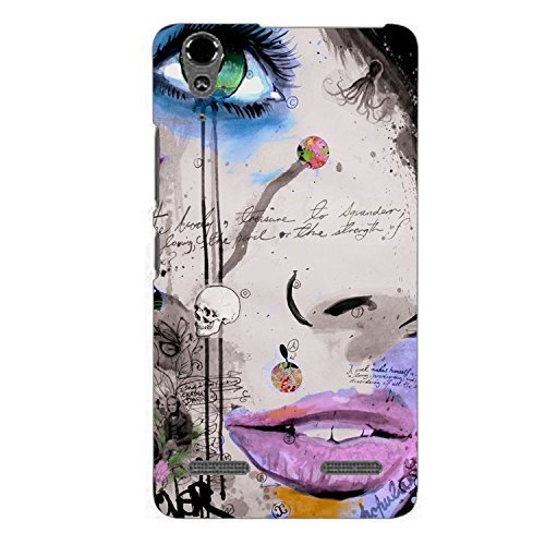 Clapcart Girl Face Printed Mobile Back Cover for Lenovo A6000 and Lenovo A6000 Plus  Multicolor