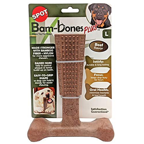 SPOT Bambone Plus Chew Toy for Dogs Beef 7″, Assorted, 54493