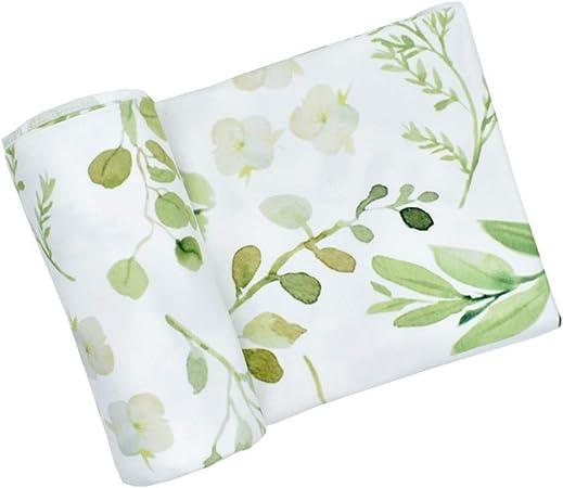 Manta de muselina JYCRA para bebé, de algodón orgánico transpirable y unisex, para niños y niñas, verde (Leaf), 80cm x 80cm: Amazon.es: Hogar
