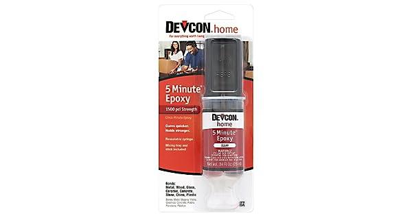 Amazon.com: Devcon (20845 – 6PK) 5-Minute Epoxy – 25 ml dev ...
