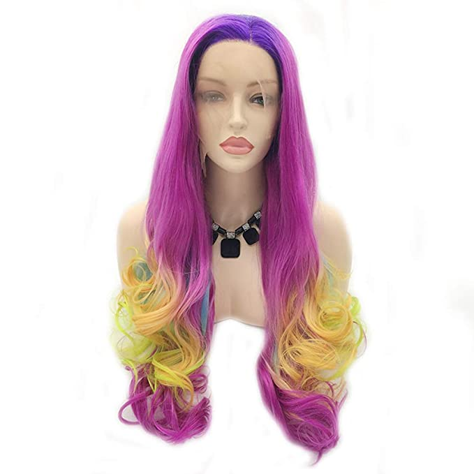 MNVOA Pelo largo pelucas onduladas para mujeres color cosplay peluca traje de fiesta de pelo femenino,Color: Amazon.es: Ropa y accesorios