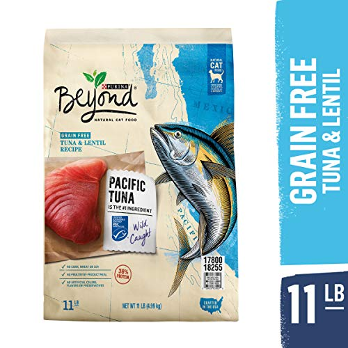 Purina Beyond Grain Free, Natural, High Protein Dry Cat Food, Tuna & Lentil Recipe - 11 lb. Bag