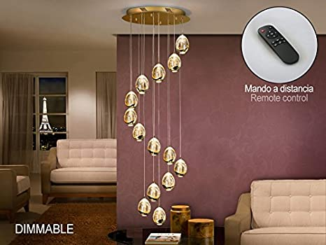 Schuller - sospese moderno LED - Collezione Rocio oro 14L LED ...