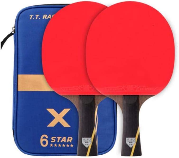Juego de raquetas de tenis de mesa con doble cara, espinillas, de goma, con bolas de tenis de mesa, protector de bordes