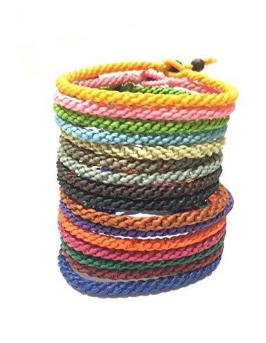 Classic Colourful Men's Weaved Cotton Thai Handmade Wristband Bracelet
