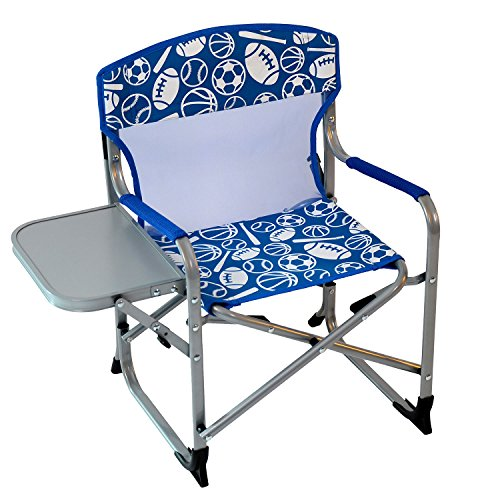 Director Chair Kids Chairs (Kid's Portable Director's Chair (Blue Sports))
