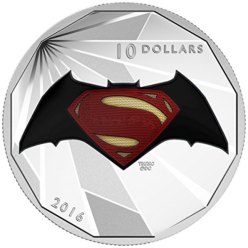 2016 CA Superman vs Batman Dawn of JusticeTM - Logo Fine Silver Coin $10 Mint State
