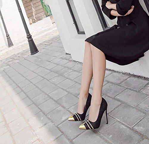 scarpe sposa da scarpe da da punta Scarpin punta Scarpe Eu tacchi ginnastica Scarpe 40 ginnastica 34 Match Black Scarpe ballo colore Pump sposa Size alti Donna da 11cm da qWCznT