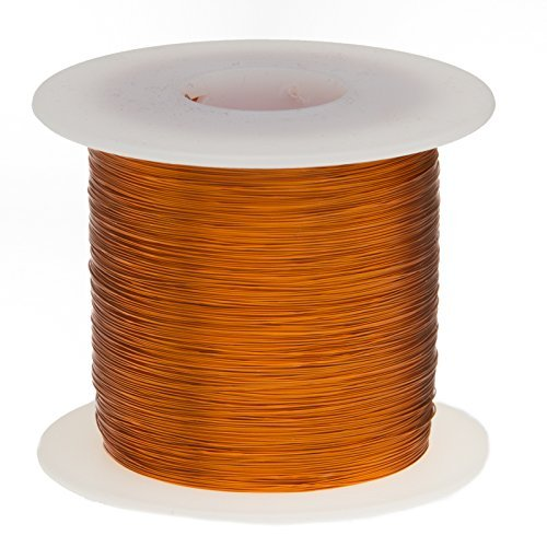Remington Industries 22H200P 22 AWG Magnet Wire, Enameled Copper Wire, 200 Degree, 1.0 lb, 0.0273'' Diameter, 502' Length, Natural