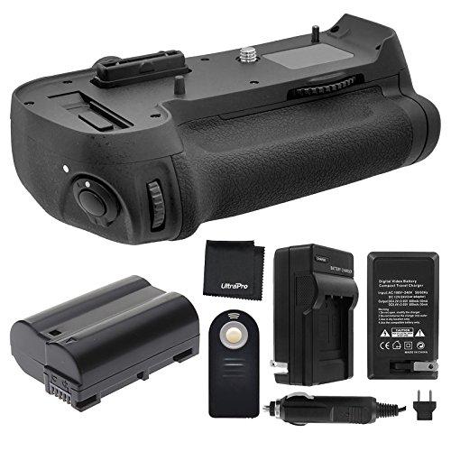 Battery Grip Bundle F/ Nikon D800, D810: Includes MB-D12 Replacement Grip, EN-EL15 Long-Life Battery, Travel Charger, UltraPro Accessory Bundle