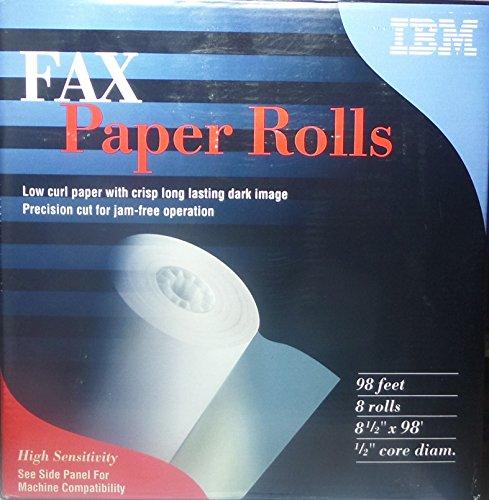 Fax Paper Accufax (IBM Fax Paper Rolls - Box of 8 Rolls 8.5