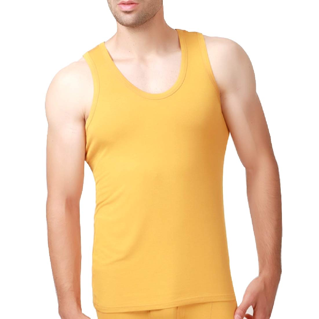 Andopa Mens Stretch Oversized Active Sleeveless Modal Cotton Tank Top