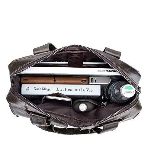 À Épaulettes Main Bandoulière Cuir Portable Sacs Première Hommes En amp; Rzl Bronze documents Pour Couche Porte Multifonctions 6n5UwHxIqR
