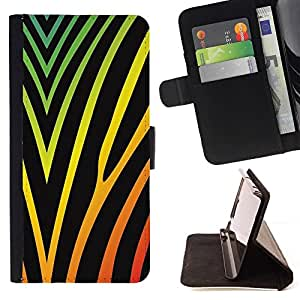 Momo Phone Case / Flip Funda de Cuero Case Cover - Colores vibrantes Negro Neón - LG G4c Curve H522Y (G4 MINI), NOT FOR LG G4